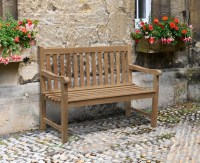 Windsor Teak 4ft Garden Bench | Small Outdoor Bench