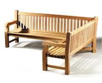 Balmoral Teak Wooden Corner Garden Bench (Right Orientation)