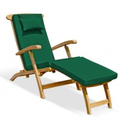 Teak Steamer Chair Affordable Rocking Chairs Halo With Cushion Brass Fittings