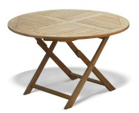 Suffolk Folding Round Garden Table and Chairs Set ...