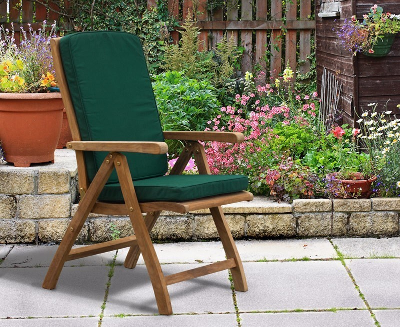 Bali Teak Extending Table and 6 Recliner Chairs Set