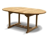 Brompton Bali Teak Extendable Dining Table Set With 6 ...