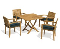 Suffolk Folding Garden Table and Stacking Chairs Set