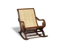 Capri Teak & Rattan Antique Plantation Rocking Chair