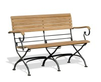 Garden Table and Bench Set, Rectangular Bistro Table with