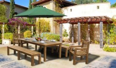 patio dining sets wooden patio table
