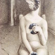 "Mujer Cochiinilla — Lithography — 16"" x 22"" —$400"