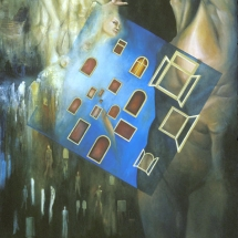 """Escape —Oil on linen —40"""" x 54"""" — 2003 — $5,000"""