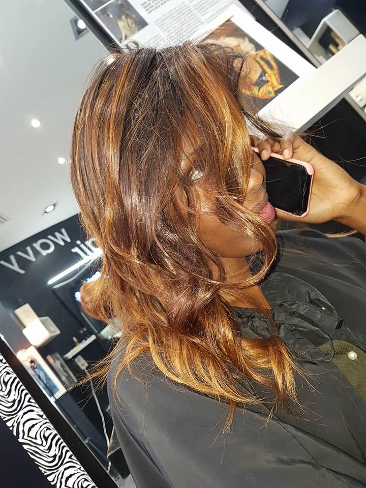 Ombr hair roux blond miel Coiffeur Paris ouvert dimanche