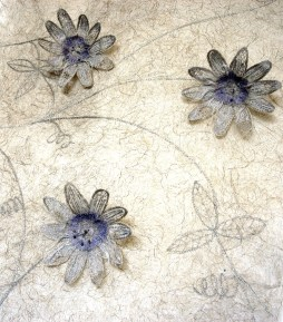 Passion Flower Wall Hanging (Detail) - Knitting and Stitching Show