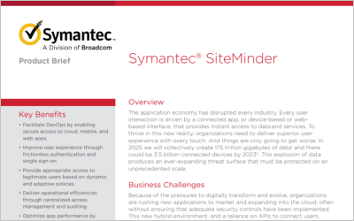 Symantec SiteMinder Product Brief