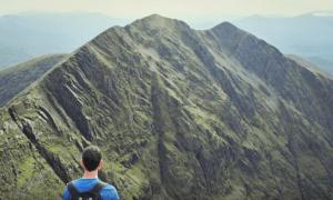 Carrauntoohill Cork Backpackers on climb