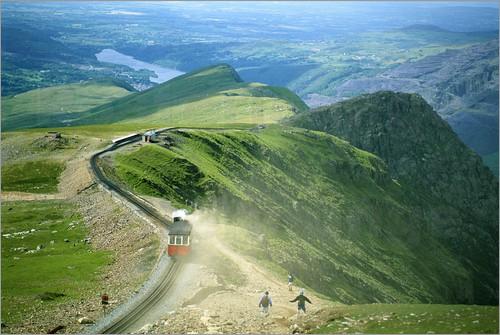 Snowdon Mountain and the Train to the Summitt