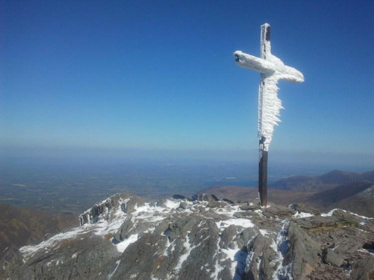The Steel Cross at the Summit of Carrauntoohil