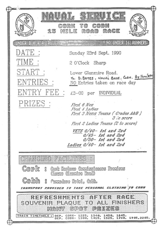 Cork to Cobh 1990 poster