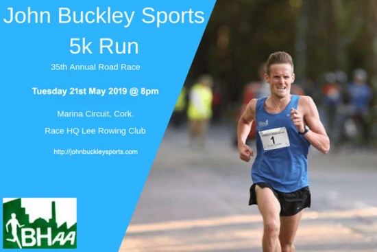 Cork BHAA John Buckley 5k 2019