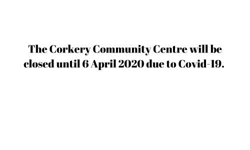 Corkery Community Centre will be closed until 6 April