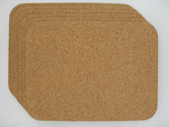 Cork placemats set of 6 rectangle  Jelinek Cork