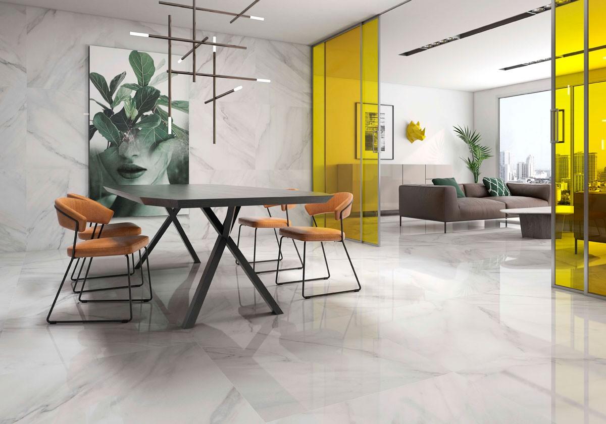 calacatta blanco floor tiles cork