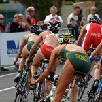 Commonwealth Games triathlon held on Beach Road, St Kilda.