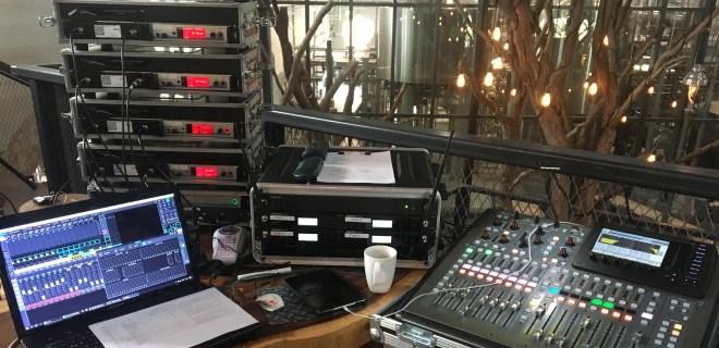 Bild eines Tontechniker-Arbeitsplatzes