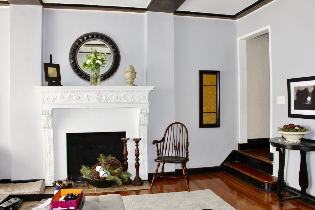 an impressive living room fireplace welcomes you at 67 lefferts ave