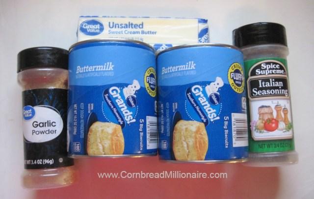 Cheesy Italian Monkey Bread Ingredients