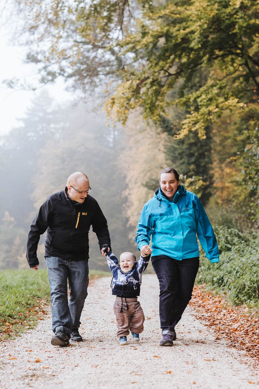 Wald Herbst Familienfotos