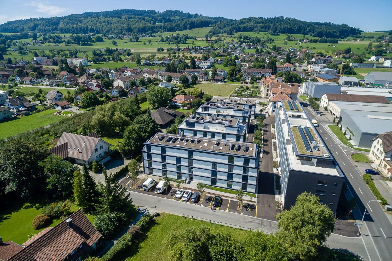 Gautschi Park Reinach Immobilien Drohne
