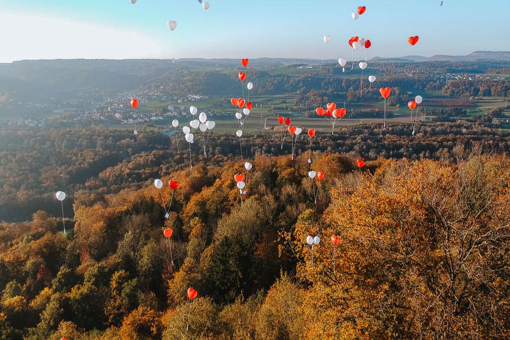 Umweltfreundliche Alternative Luftballons Hochzeit