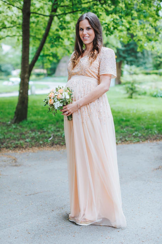 Hochzeit Klöntalersee Braut schwanger