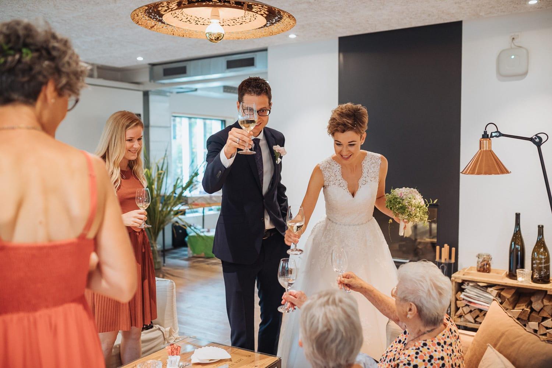 Apéro Brautpaar Gäste