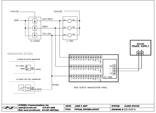 Led Symbol Wiring Diagram Annunciator Panels Cornell Communications Emergency Call