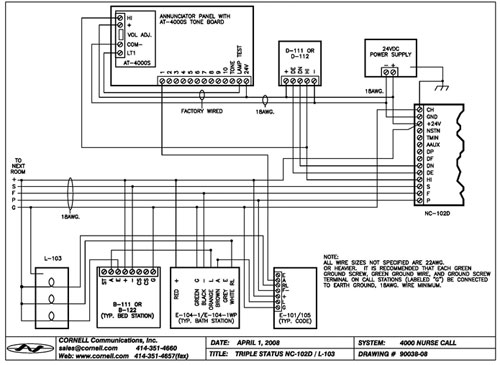 Nurse Call System Wiring Diagram Nurse DIY Wiring Diagrams
