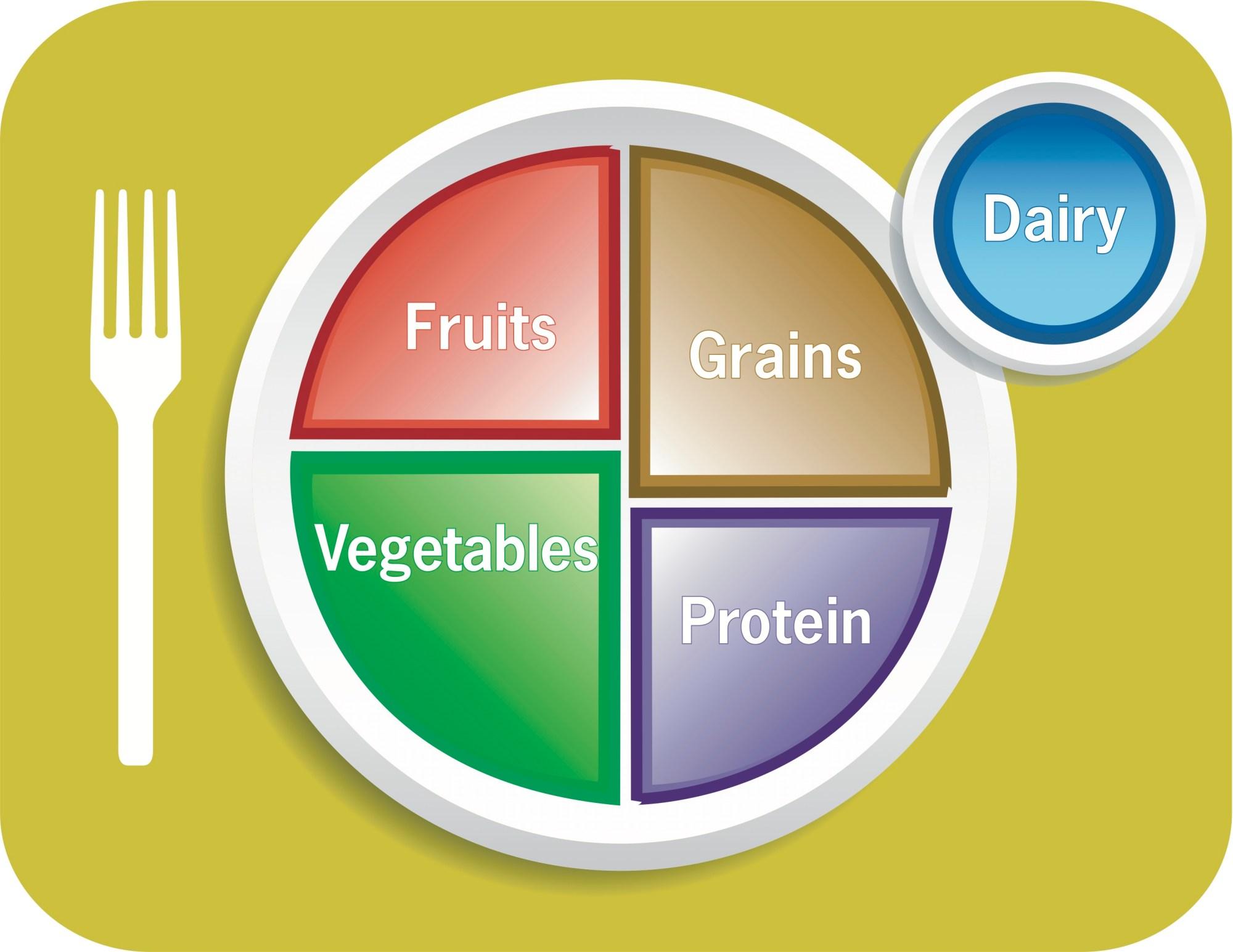 hight resolution of usda food plate diagram