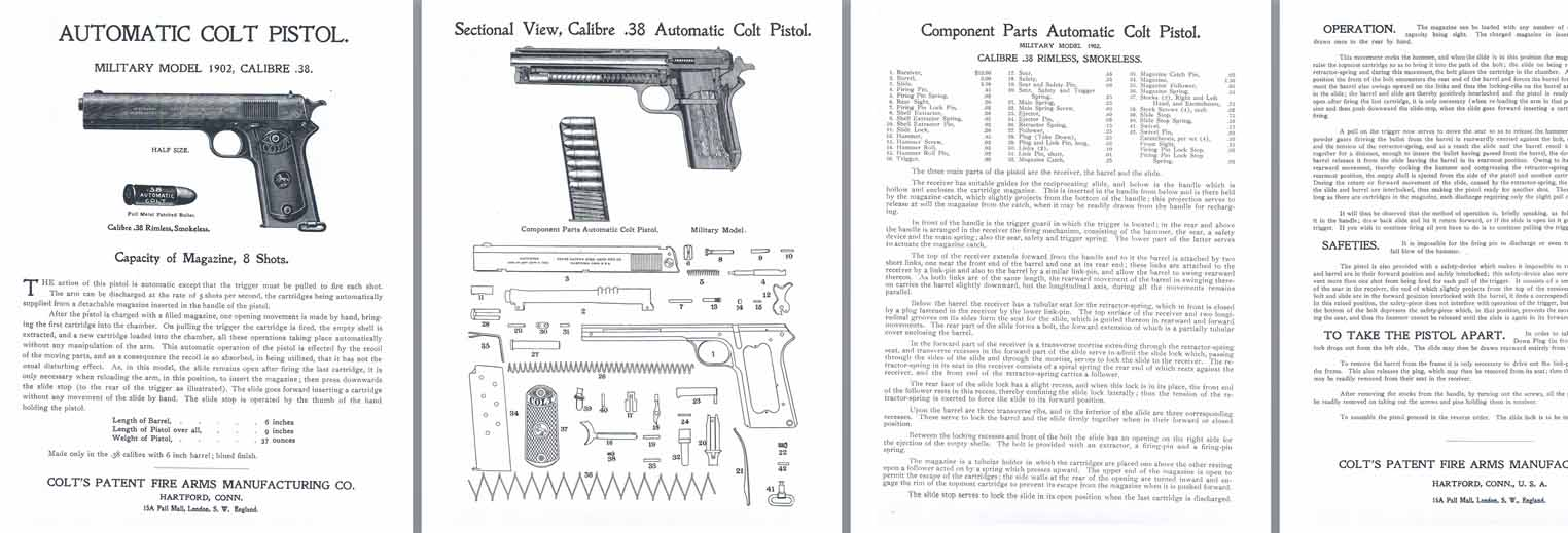 hight resolution of  colt m1902 38 military model automatic pistol manual