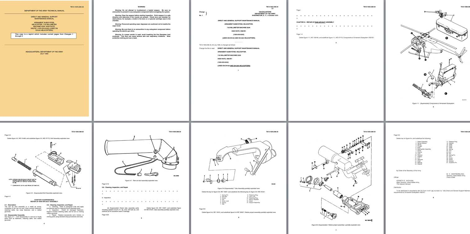 hight resolution of  manual 1969 tm 9 1005 298 34 xm27e1 hi rate helicopter machine gun genl