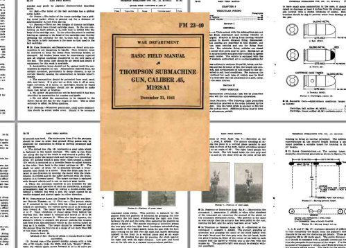 small resolution of  fm 23 40 thompson smg m1928a1 1941 field manual