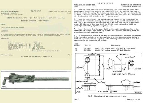 small resolution of  browning 1961 mg 1919a1 brit l3a3 technical handbook uk manual