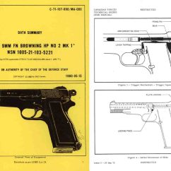 Browning Hi Power Parts Diagram Pir Override Switch Wiring Cornell Publications 1980 Fn 9mm No 2 Mark 1