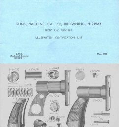 browning 1942 m1919a4 mg illustrated parts list uk manual [ 1600 x 2013 Pixel ]