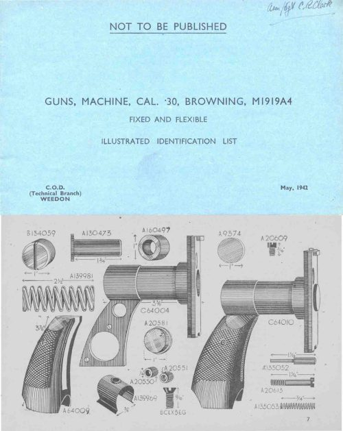 small resolution of  browning 1942 m1919a4 mg illustrated parts list uk manual