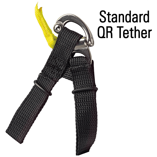 Red Simpson Helmet Tether Leash Restraint Kit With D-Ring Hardware
