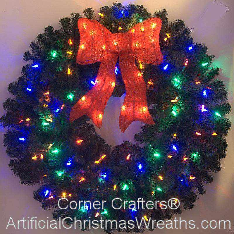 3 FOOT COLOR CHANGING LED CHRISTMAS WREATH