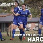 NPLW March Player of the Month: Melina Ayres