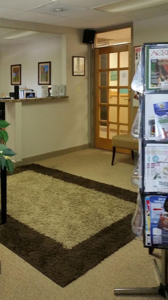 Lobby of Cornerstone progressive health