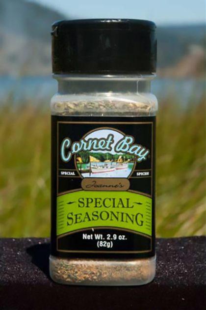 Cornet Bay Joanne's Special Dill Garlic Seasoning.