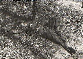 Als korporaal in militaire dienst, 1951