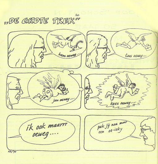 Cornets de Groot afgebeeld in de zesde jaargang van het 'Informatief Bulletin'. Zie de noot van de bezorger.
