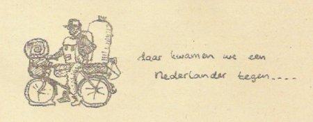 'Daar kwamen we een Nederlander tegen' - illustratie.